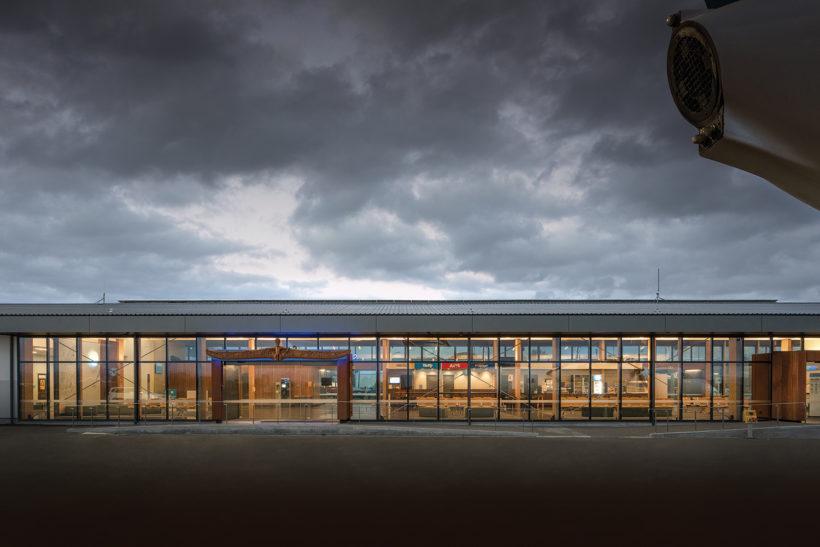 Gisborne Airport - Vulcan Screening and Vulcan Cladding - Abodo Wood