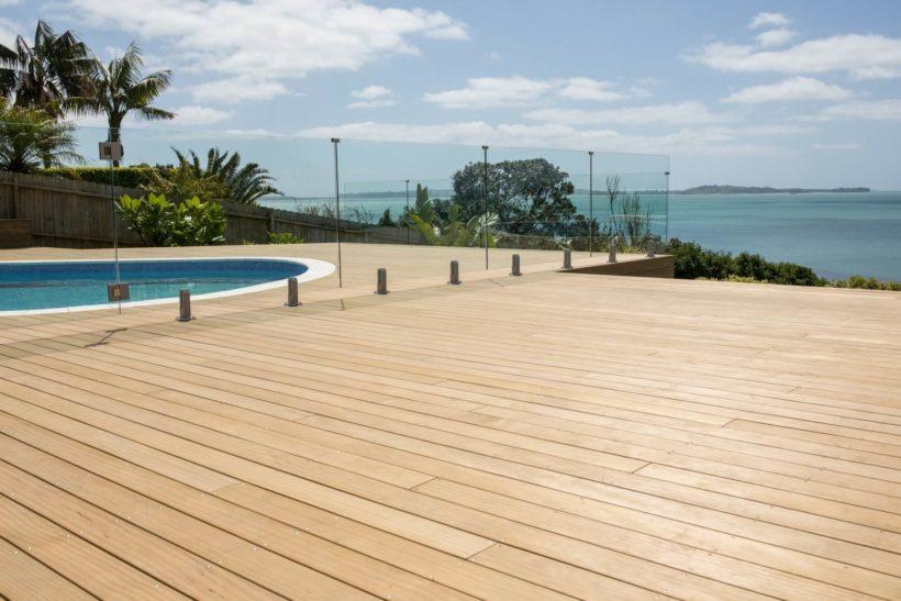 Howick Pool Deck - Sand Decking - Abodo Wood