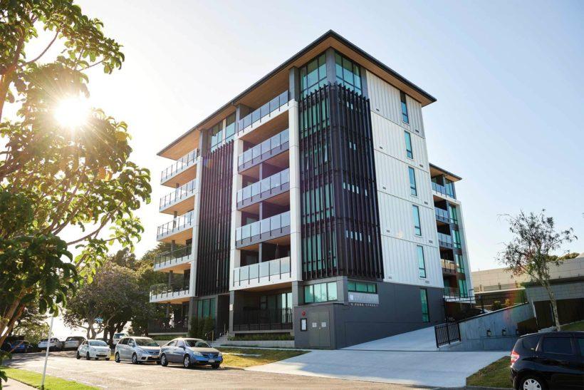 Latitude Luxury Apartments Vulcan Cladding in Sioox Abodo Wood 1