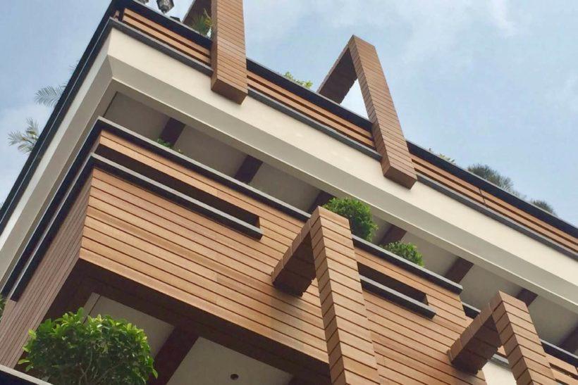 Column Timber Cladding
