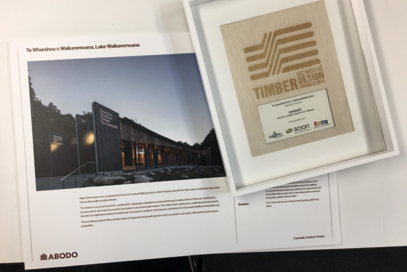NZ Timber Design Awards - Lake Waikaremona Visitor Centre - Abodo Wood